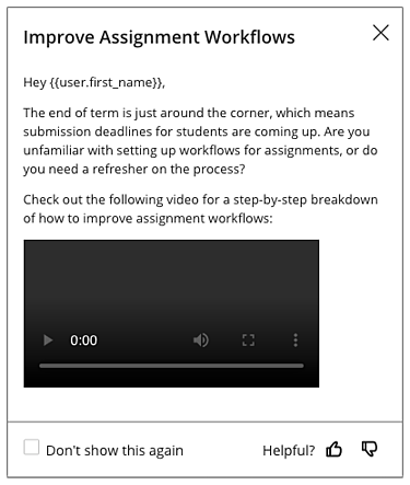 Improve Assignment Workflows Canvas Messasge